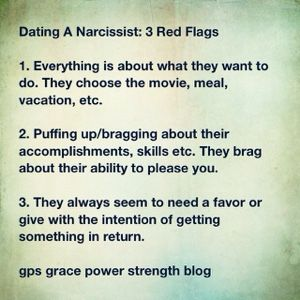 was i dating a narcissist Dating a narcissist woman only a small fraction of the women i have dated have acted-out consistently on the narcissistic spectrumi the experiences with those women into for the purposes of this.