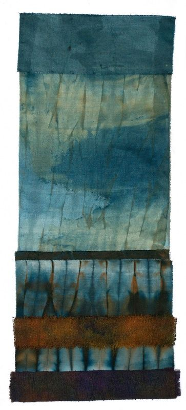 Helen Terry - Lifting ( Dye & Hand Stitch on Cotton and Silk)