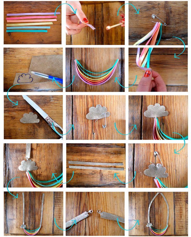 DIY : Rainbow Ribbon Necklace // Collier à Rubans Arc-En-Ciel