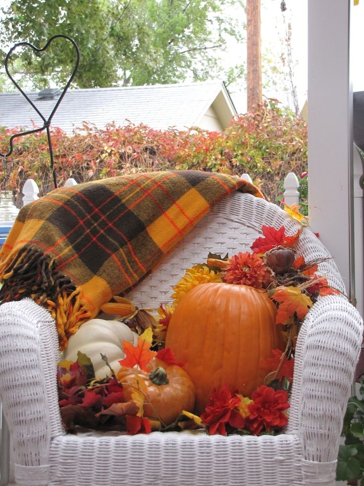 Back porch Fall decor