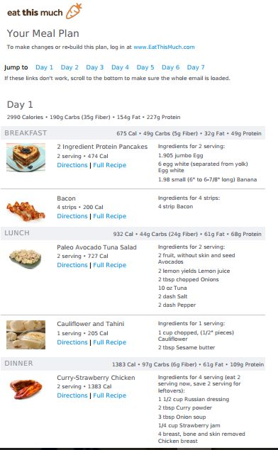 3000 Calories Paleo Diet Plan | Paleo diet plan, 3000 ...