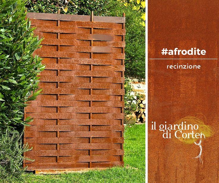 Delimitare il tuo giardino con una recinzione in #corten? Un'idea originale e con un notevole impatto visivo, come #Afrodite de #IlGiardinodiCorten chiedi maggiori informazioni a questo link: http://bit.ly/afroditeIlGiardinodiCorten