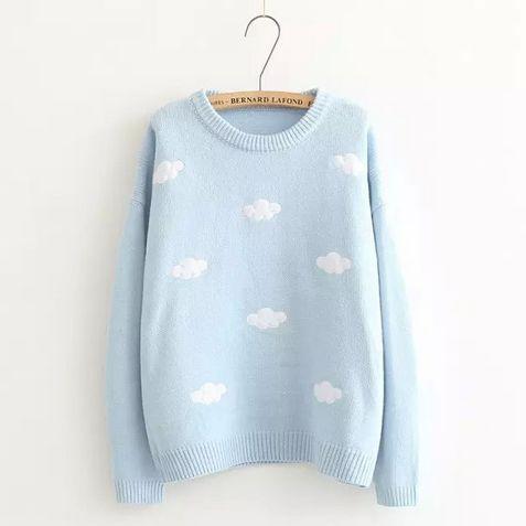 Japanese cute kawaii clouds sweater