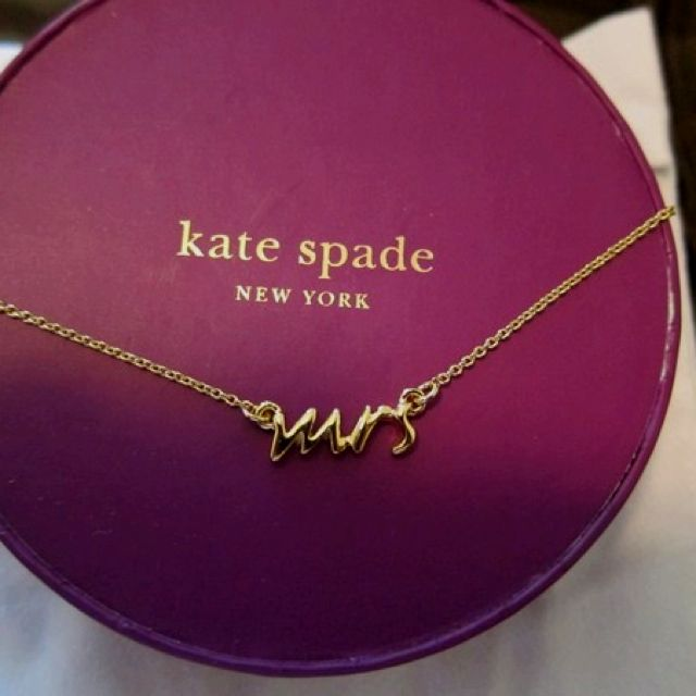 Kate Spade - Mrs. necklace.. and the matching earrings please & thank you!