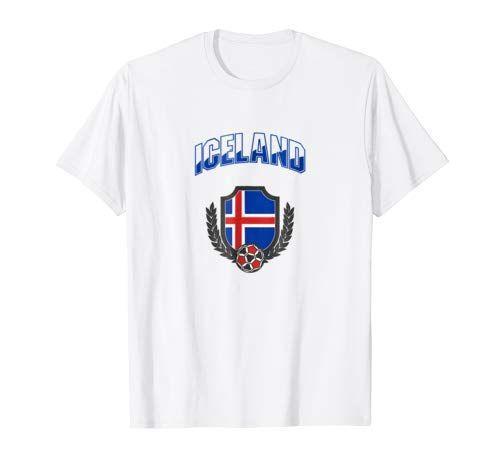 b5a2de64d Iceland Soccer Tshirt World Cup Icelandic Team Flag Emblem Tshirt  https   www.