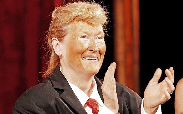 Meryl Streep imitates Donald Trump