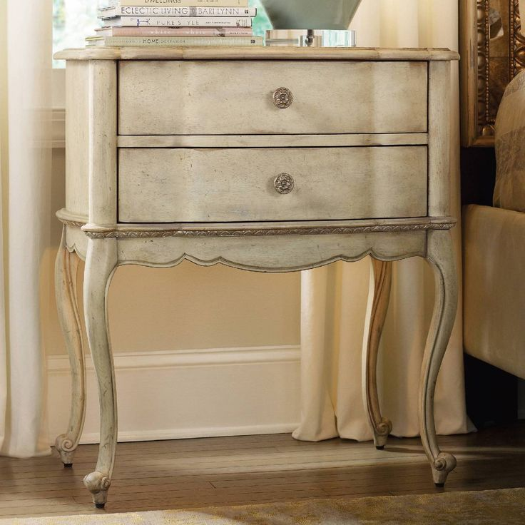 hooker furniture sanctuary 2 drawer mirrored top nightstand from