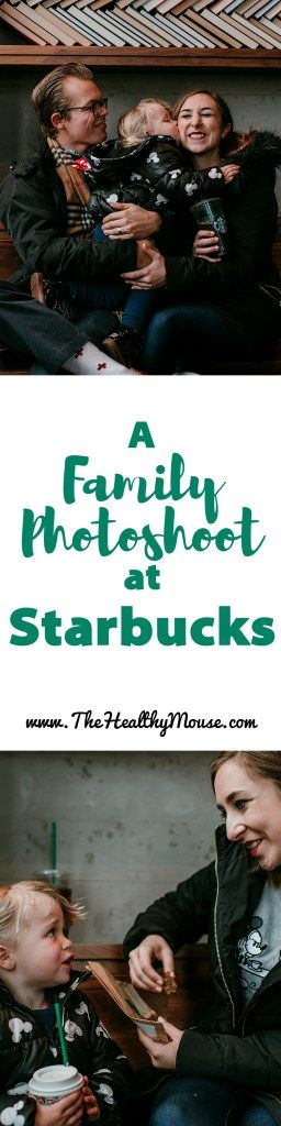 A family photoshoot at Starbucks - Unique family Christmas photo ideas