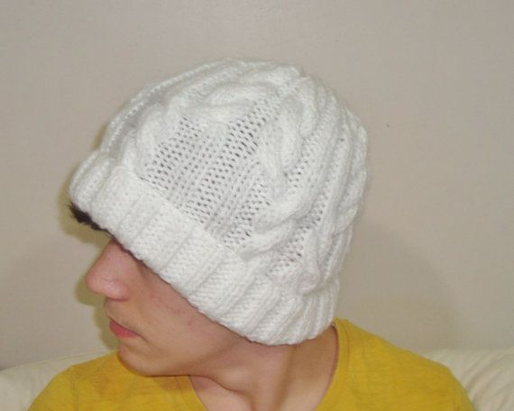 Hand Knitted Hat Woman or Man Hat  Beanie Hat in by earflaphats, $39.99