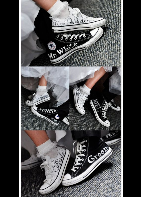 MADE TO ORDER  Wedding Converse by ANWdesigner on Etsy, $5.00