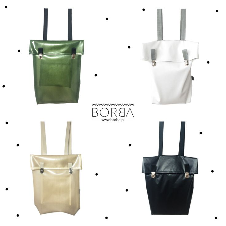 waterproof / leather minimalist backpacks  BORBA streetwear