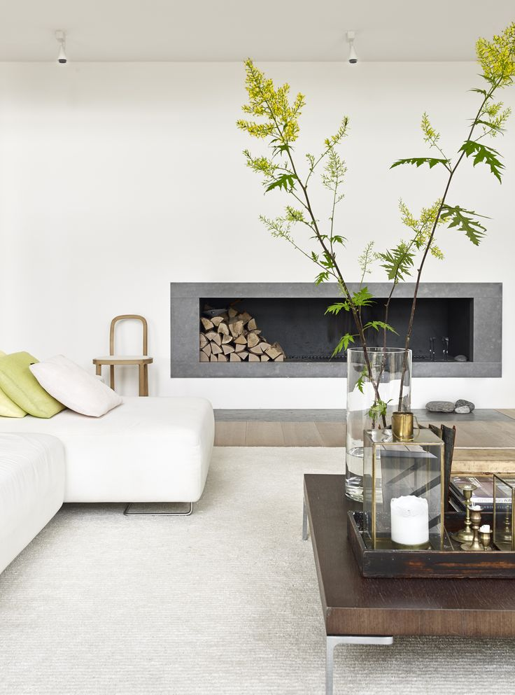 Woodnotes tufted wool linen Path carpet col. white. Minimalistic cozy.