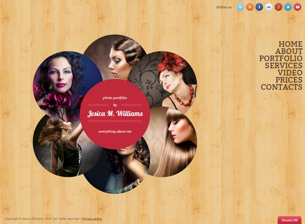Circle design HTML5 Template by Dynamic Template
