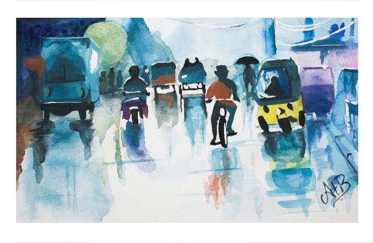 Watercolor painting - AstridtenBosch https://www.facebook.com/pages/AstridtenBosch-Art/562052023904627?ref=aymt_homepage_panel