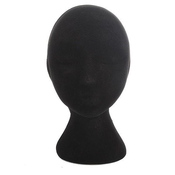 Black Female Styrofoam Mannequin Head Stand Model