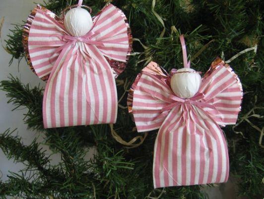 Angel Christmas Ornaments Pink
