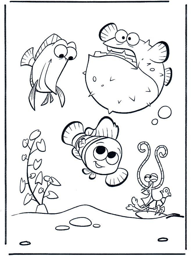 Fish Bowl Coloring Page Youngandtae Com Finding Nemo Coloring Pages Nemo Coloring Pages Fish Coloring Page