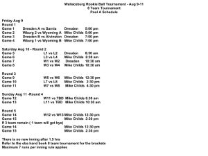 Pool A Schedule Wallaceburg Minor Baseball Association To Host St Clair River League Season End Rookie Ball Tournament Aug 9-11, 2013 #wallaceburgwarriors