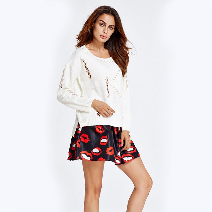 Charlee Cooper Mini Skater Skirt And Long Sleeved Jumper Set