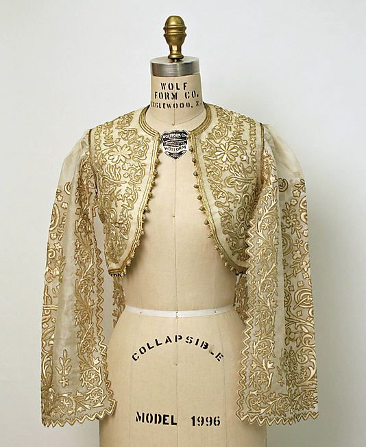 Jacket, 20th c., Turkish, silk, cotton, metallic