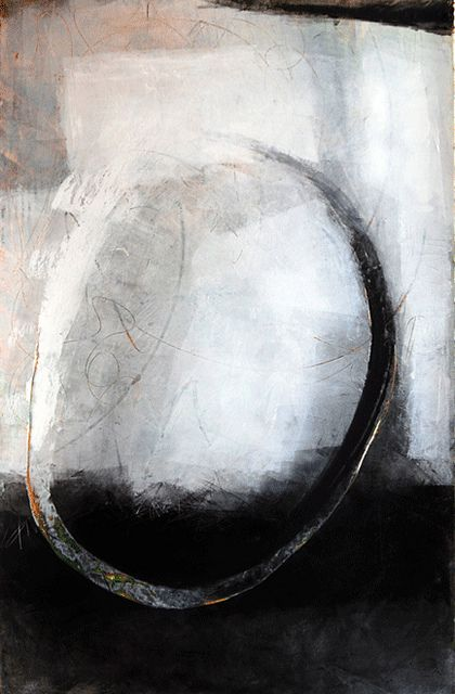 This weeks work by Karen L Darling, via Flickr working with cold wax, charcoal and oil on various surfaces
