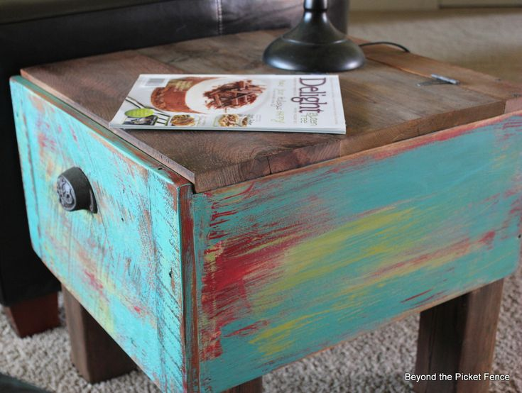 Beyond The Picket Fence: Drawer Side Table