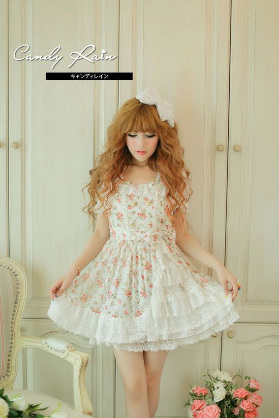 Mango Doll - Sweet Bow Layered Chiffon Floral Dress, $41.00 (http://www.mangodoll.com/all-items/sweet-bow-layered-chiffon-floral-dress/)