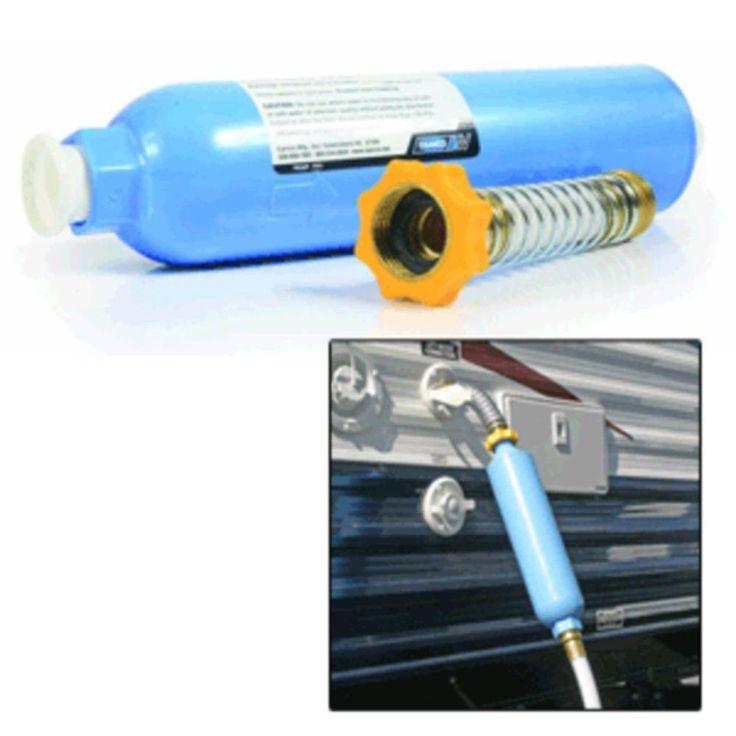 Camco TastePURE KDF-Carbon Water Filter w-Flexible Hose Protector
