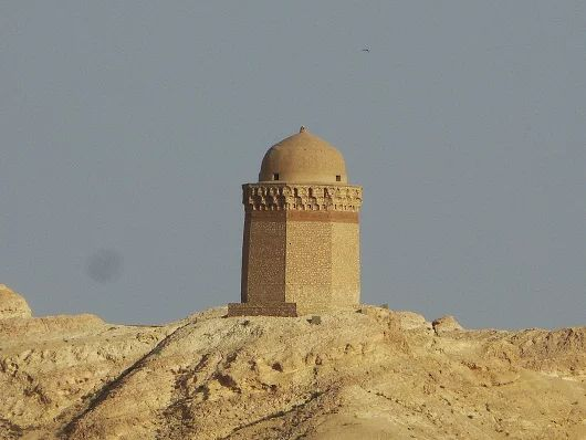 The Local Authority: Gonbad e Ali of an octogonal funerary mausoleum which was built in 1056 AD for a local emir of Kayukid dynasty. Taken from Aghazadeh-Qajar historical house in Abarkooh-Yazd, April 2017