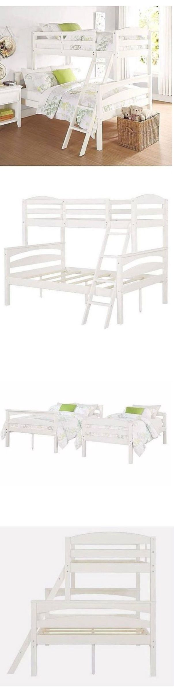 Kids Furniture: Solid Wood Bunk Beds Bedroom Furniture For Kids Detachable With Rails Ladder New BUY IT NOW ONLY: $379.99