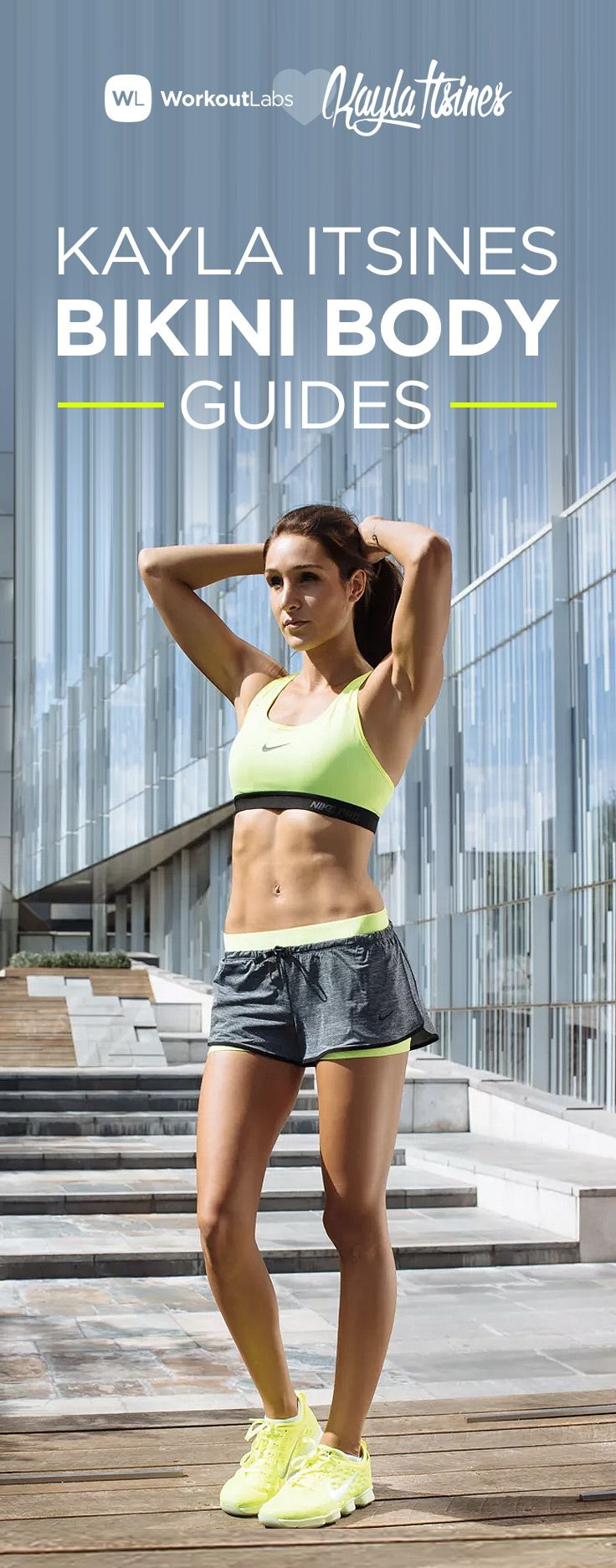 Earn your bikini body with Kayla Itsines' BBG workout and nutrition guides with our review: http://workoutlabs.com/s/9JPkx