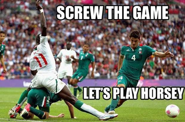And people wonder why I like watching soccer so much! It always turns out hilarious!