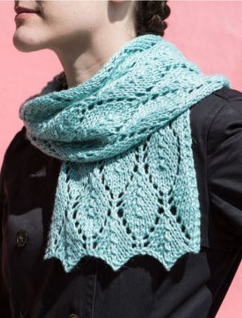 Free knitting pattern and free video tutorial for Falling Leaves lace scarf (...