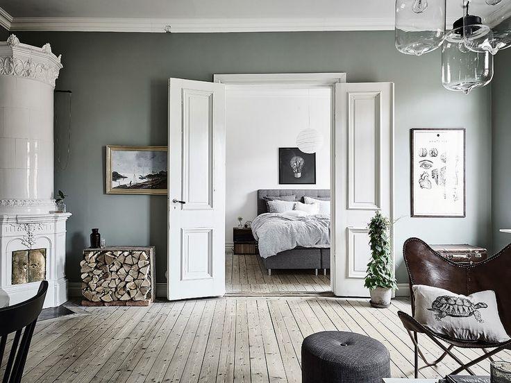 les 25 meilleures id es concernant vert de gris sur pinterest peinture vert de gris chambre a. Black Bedroom Furniture Sets. Home Design Ideas