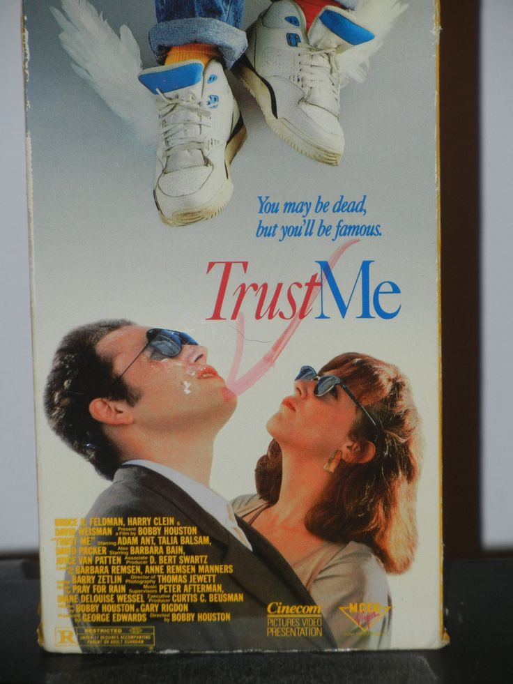 Adam Ant in Trust Me VHS Movie from 1989 Starring David Packer Talia Balsam Joyce Van Patten Barbara Bain Alma Beltran Barbara Perry by GailsPopCycle on Etsy