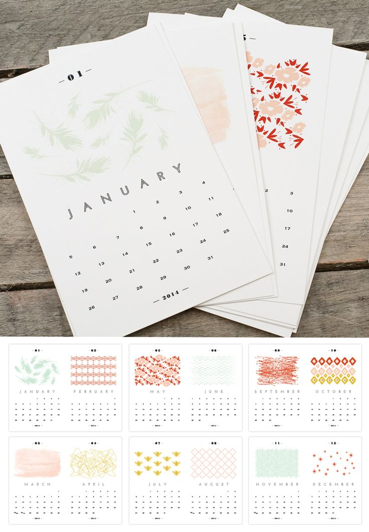 Free Printable 2014 Calendar | www.papersnaps.com/blog