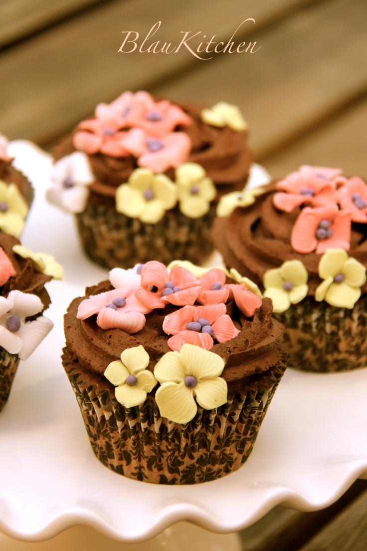 Vintage Cupcakes de naranja y trufa