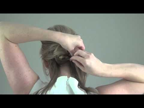 Real Simple Bridal Hair Tutorial Video: Wrapped Updo - YouTube