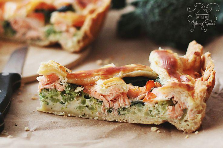Salmon Fresh Green Tart