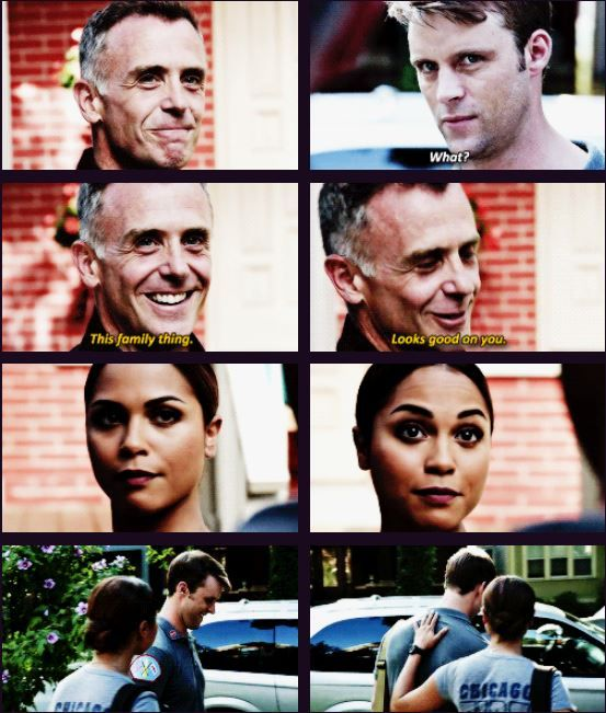 Casey: What? Herrmann: This family thing. Looks good on you. (5x01)