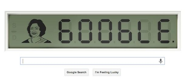 Shakuntala Devi, The Human Computer, Receives Google Doodle Honor