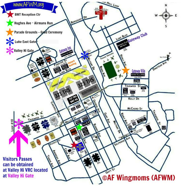Maps AF WingMoms (Parade grounds) Lackland air force