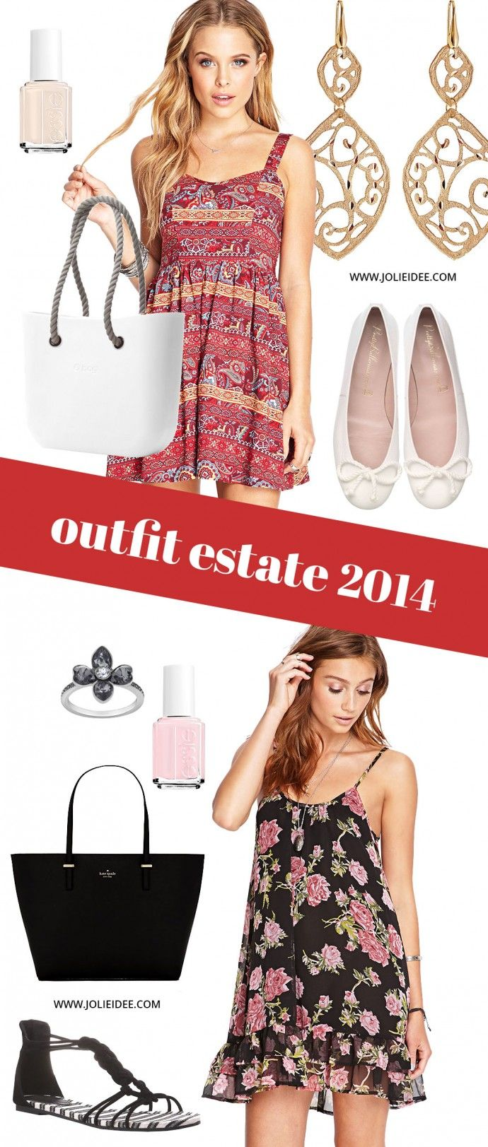 Outfit Estate 2014 - 2 Total Look da copiare #outfit #look #makeup #dress #summer #shoppingbag