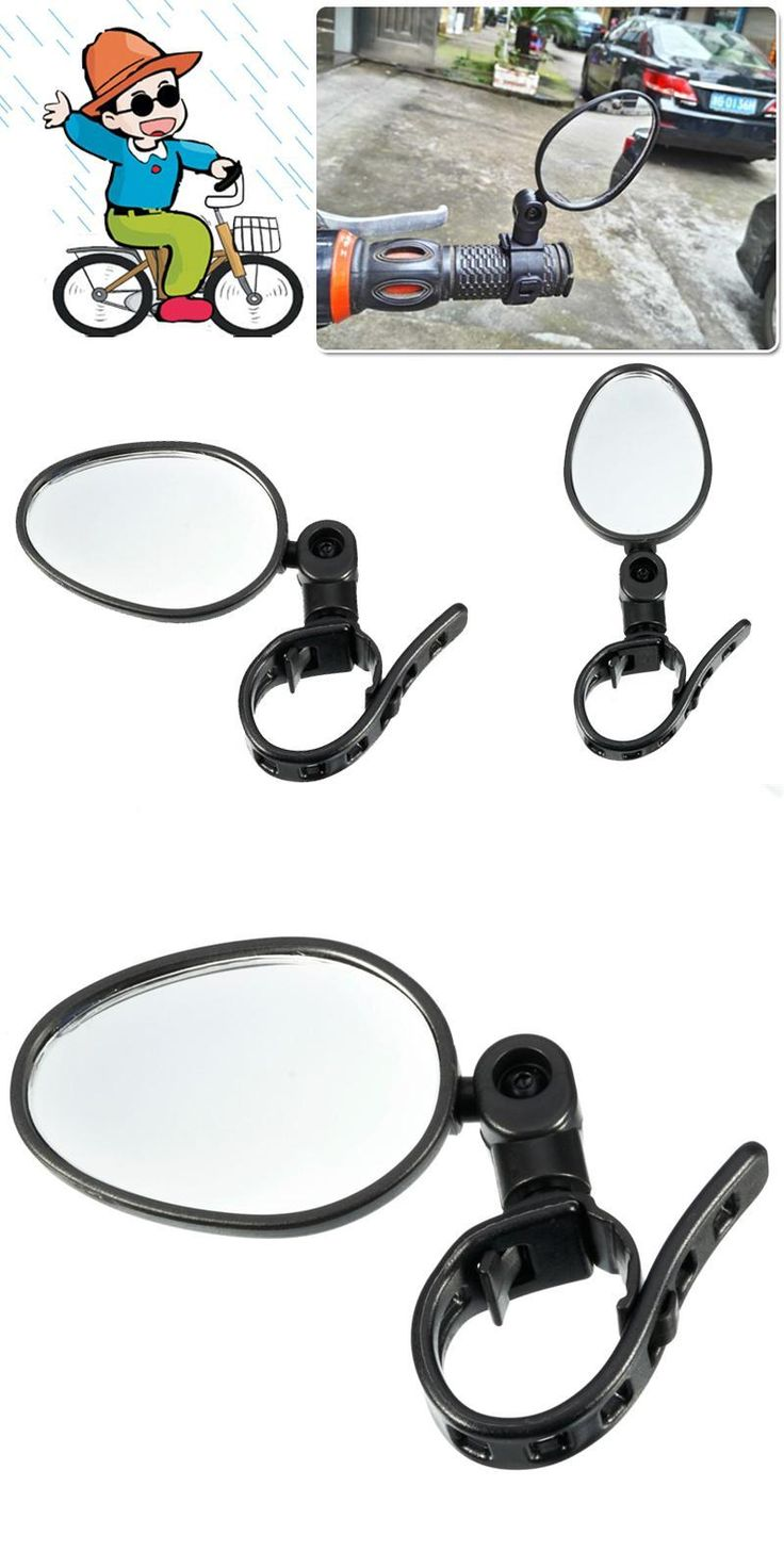 [Visit to Buy] Outdoor MTB Bicycle Mirror Cycling Safety Mirrors Universal Handlebar Rearview Mirror 360 Degree Rotate Bike  #Advertisement