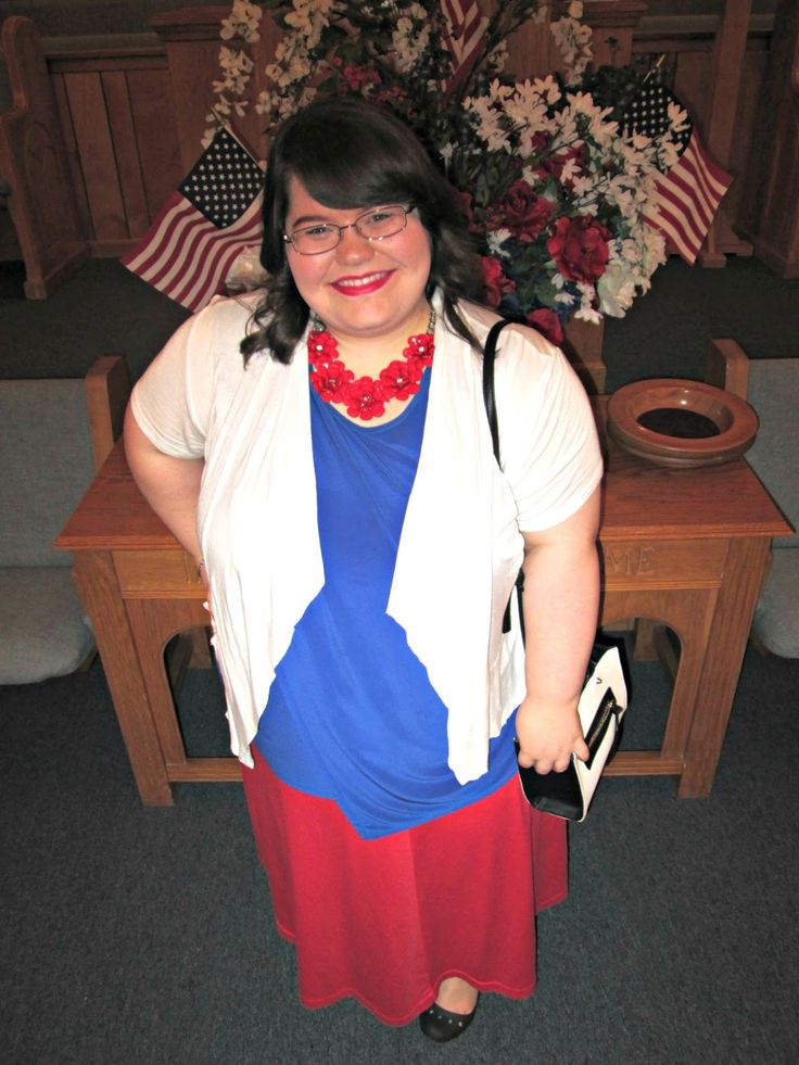 Unique Geek: Plus Size OOTD: Unseen Throwback #plussize #plussizefashion #plussizeootd #plussizeoutfit #churchoutfit #redwhiteandblueoutfit