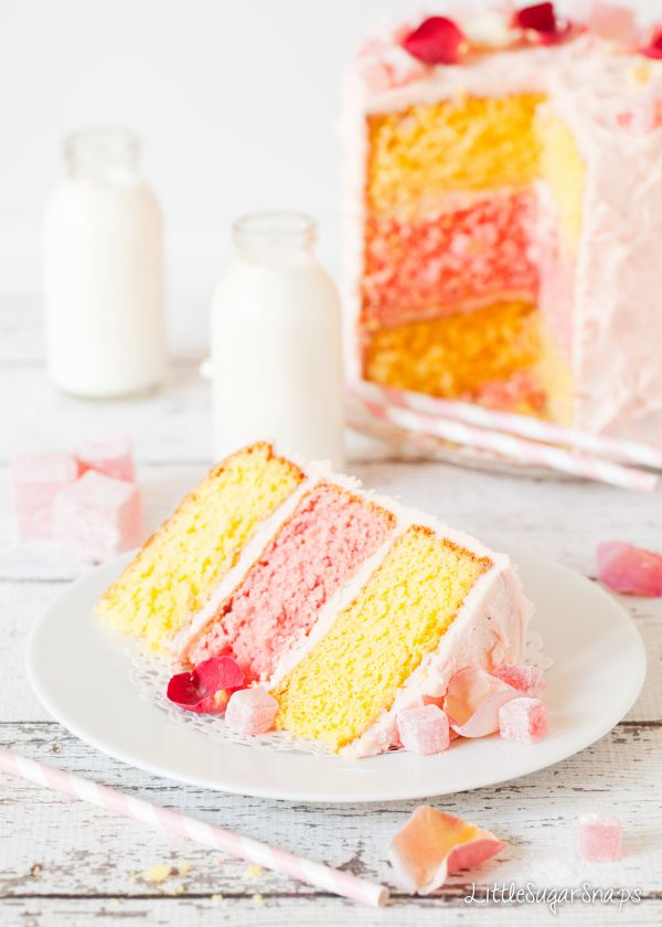 Recipe; Turkish Delight Layer Cake