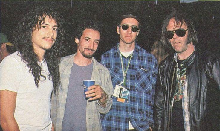 Kirk Hammett, Mike Bordin, Les Claypool & Neil Young