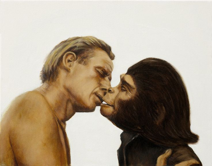 Planet of the Apes. Oil on Canvas. 2014. Brock Banner