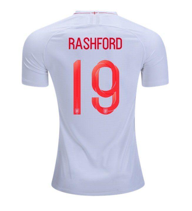 finest selection e8282 47226 Rashford+#19+ENGLAND+2018-2019+Home+Football+Shirt+-white ...