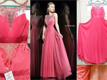 Items For Sale:  NWT SHERRI HILL EVENING GOWN. CORAL. Sz 4. Ret $600 http://ift.tt/1T2736Z
